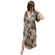 Φόρεμα Μακρύ με Τρέσα