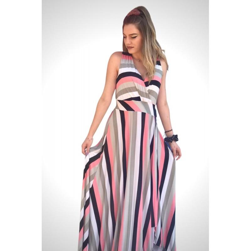 Φόρεμα Ριγέ Φορέματα xxl