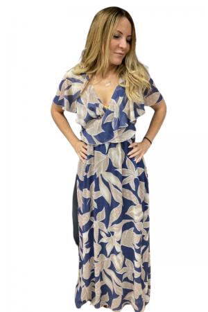 Φόρεμα Βολάν και Δέσιμο Κρουαζέ