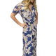 Φόρεμα Βολάν και Δέσιμο Κρουαζέ Φορέματα xxl