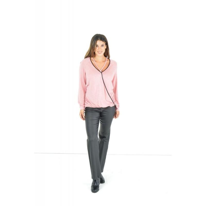 Μπλούζα Κρουαζέ με Κορδόνια  Μπλούζες xxl