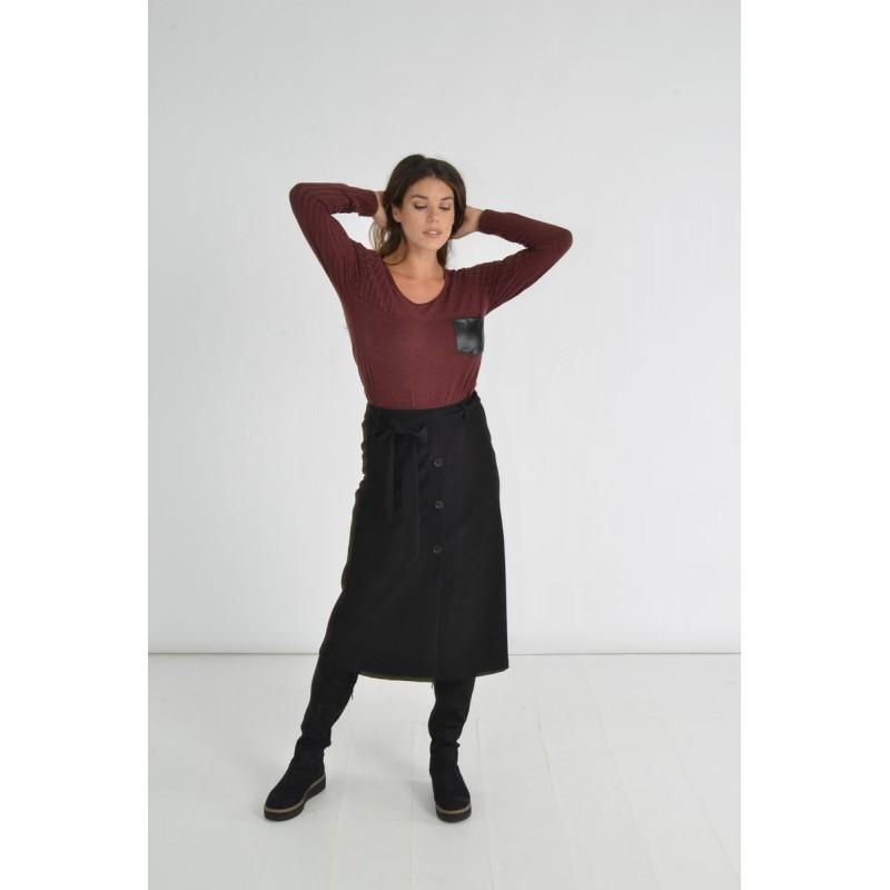Μπλουζες xxl - Μπλουζες - Fuego Fashion - Μπλούζα με Τσεπάκι Σαμπρέλα Μεγάλα Μεγέθη