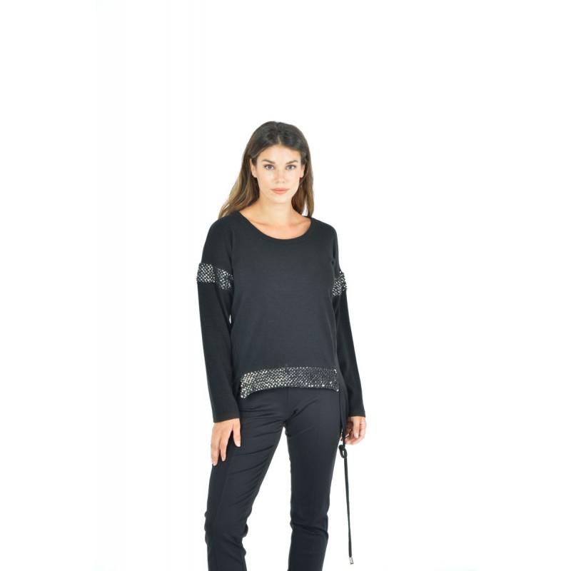 Μπλούζα με Κορδόνια και Παγιέτα Μπλούζες xxl