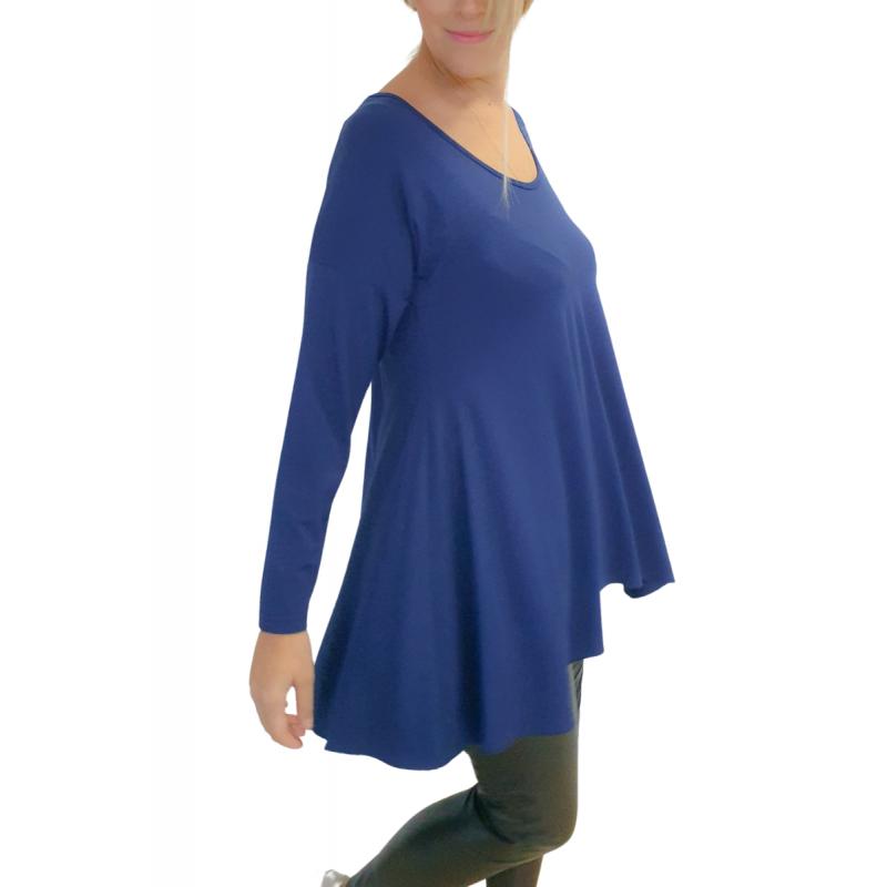 Μοντερνα plus size ρουχα - Μπλουζες xxl - Μπλουζες - Fuego Fashion - Μπλούζα με Μύτες Μπλούζες xxl