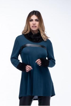 Μπλούζα Φόρεμα Ξεχειλωτό