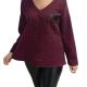 Μπλουζες xxl - Μπλουζες - Fuego Fashion - Μπλούζα με Τσέπη Μπλούζες xxl