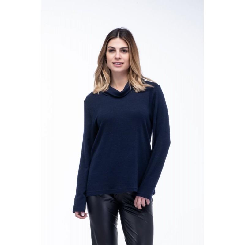 Μπλούζα Κλασική με Γιακά Μπλούζες xxl