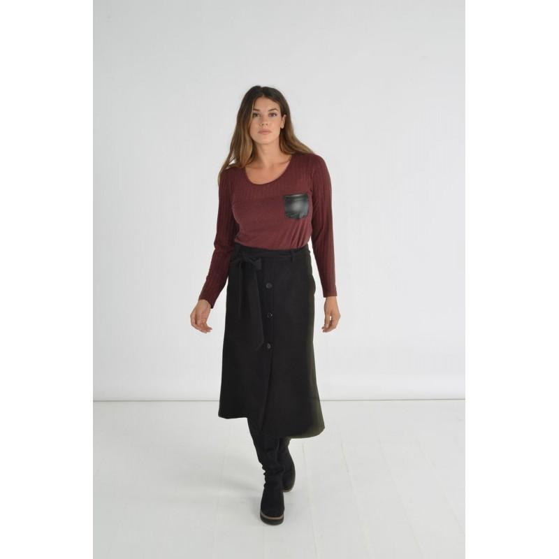 Φούστα Διαγωνάλ με Ζώνη Φούστες xxl