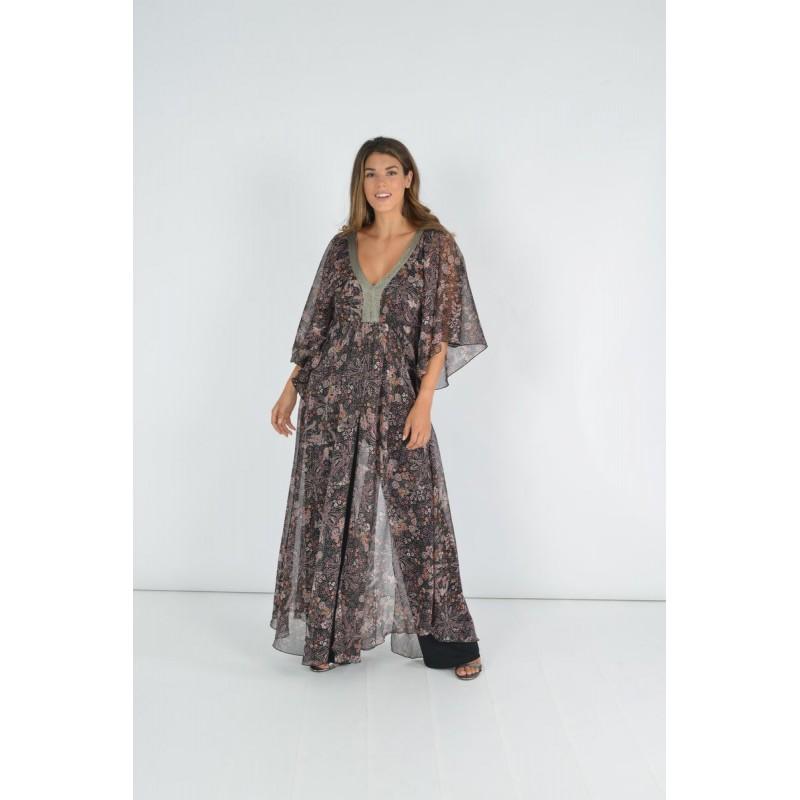 Μοντερνα plus size ρουχα - Fuego Fashion - Ολόσωμη Φόρμα Εμπριμέ Ολόσωμες Φόρμες xxl