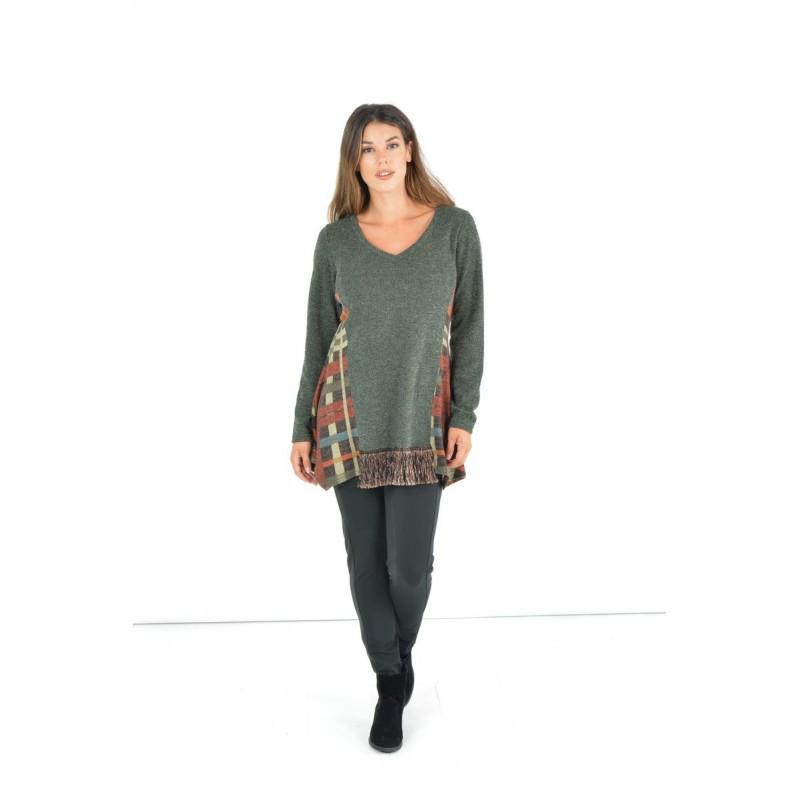 Fuego Fashion - Παντελόνι-Κολάν με Σατέν και Λάστιχο Παντελόνια xxl