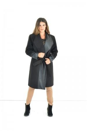 Παλτό με Δερμάτινη
