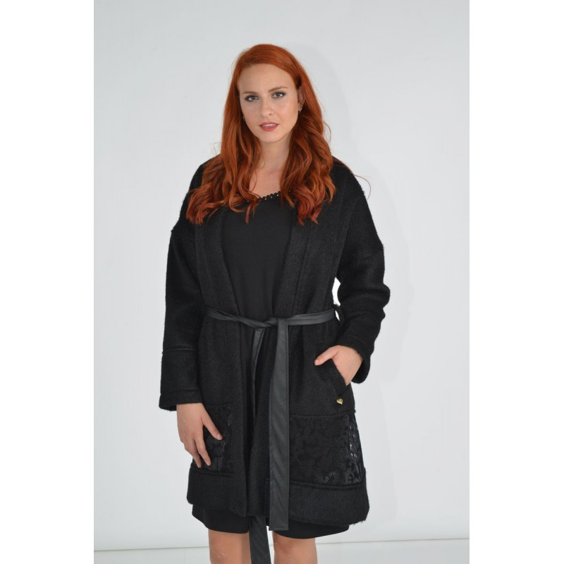 Μοντερνα plus size ρουχα - Fuego Fashion - Ζακέτα με Δαντέλα  Ζακέτες xxl