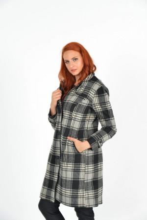 Παλτό με Δερμάτινα Ρέλια