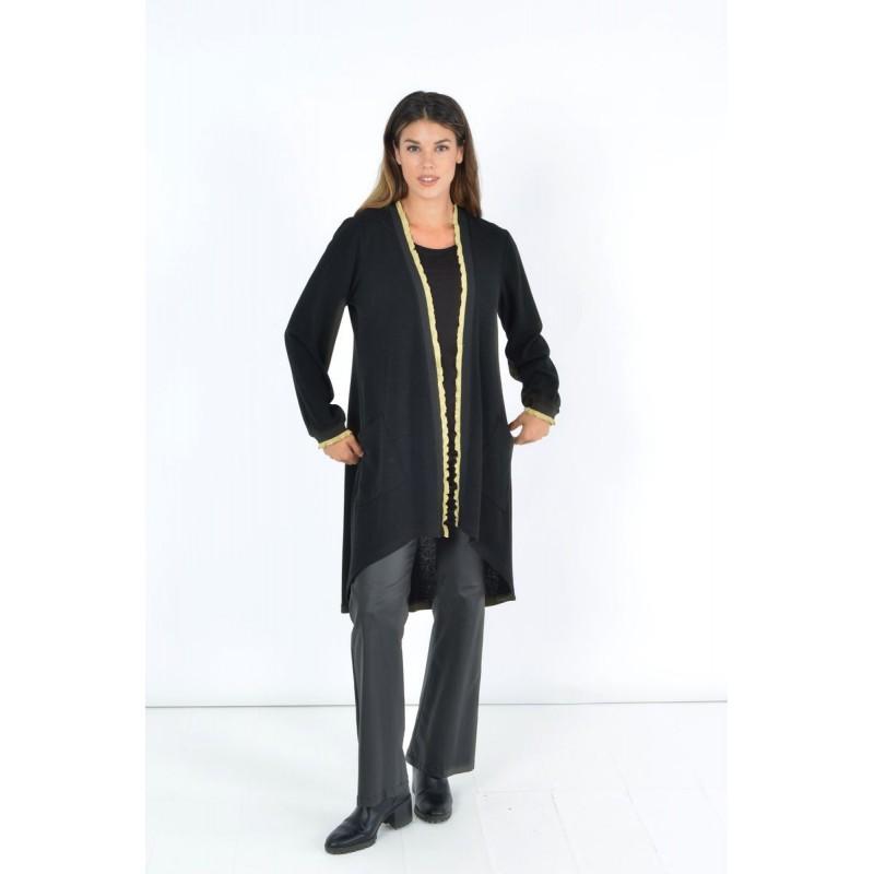 Μοντερνα plus size ρουχα - Fuego Fashion - Ζακέτα με Χρυση Λεπτομέρεια  Ζακέτες xxl