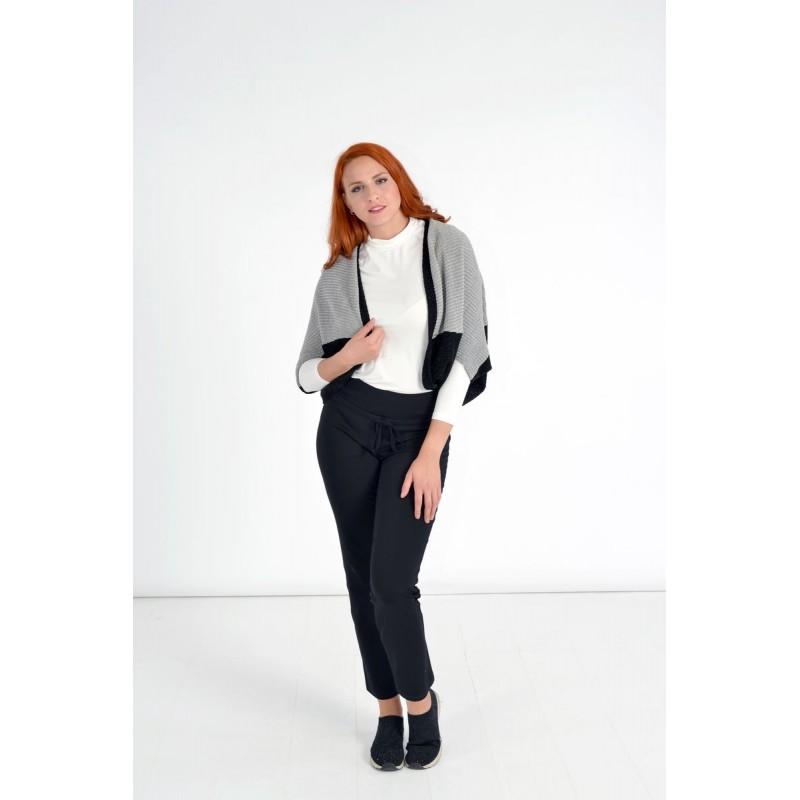 Μοντερνα plus size ρουχα - Fuego Fashion - Μπολερό Δίχρωμο Ζακέτες xxl