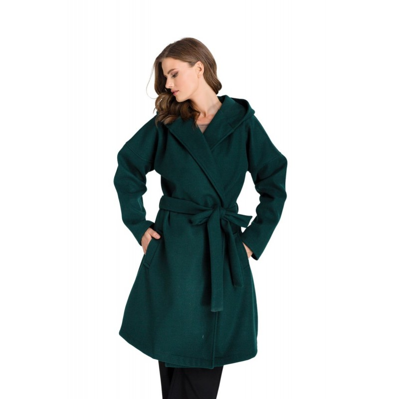 Μοντερνα plus size ρουχα - Fuego Fashion - Ζακέτα με Γιακά και Κουκούλα Ζακέτες xxl
