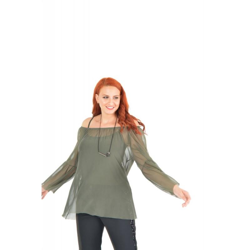 Fuego Fashion - Πουκαμίσα Τούλι