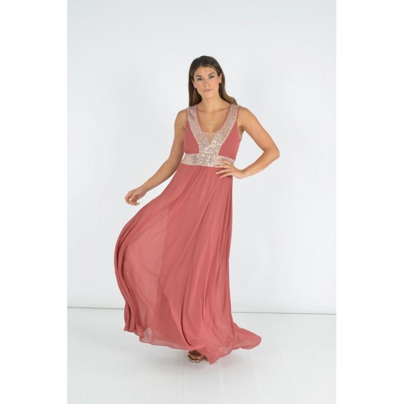 Φόρεμα με Φάσες και Παγιέτα Μεγάλα Μεγέθη