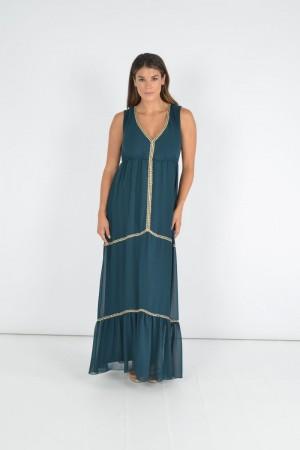 Φόρεμα με Τρέσες Χρυσές