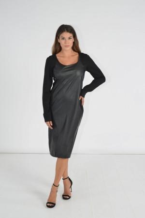 Φόρεμα Δερματίνη Μακρύ Μανίκι