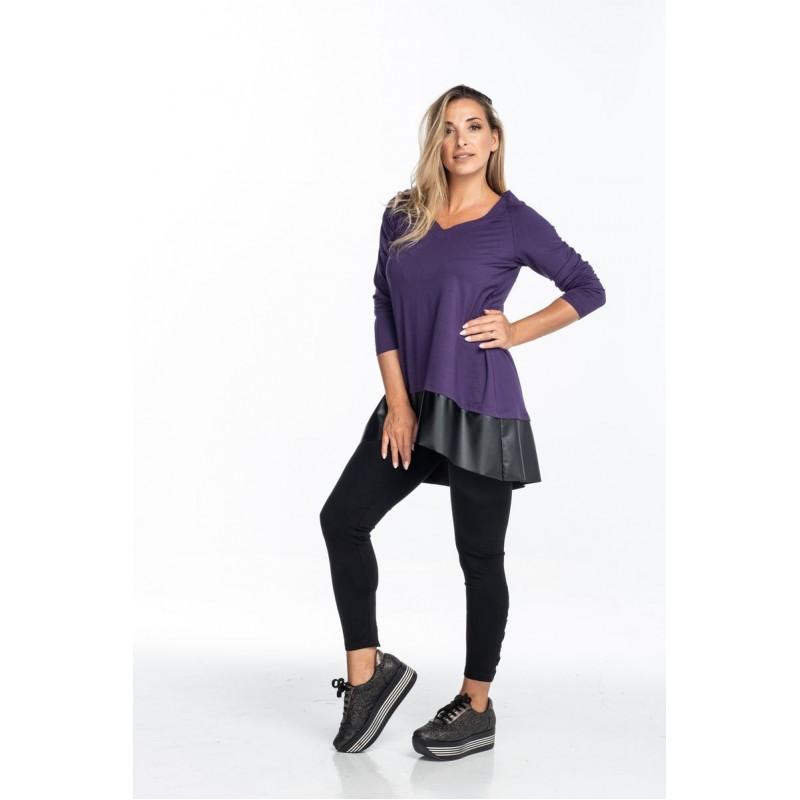 Μοντερνα plus size ρουχα - Μπλούζα με Τελείωμα Σαμπρέλα Μπλούζες xxl