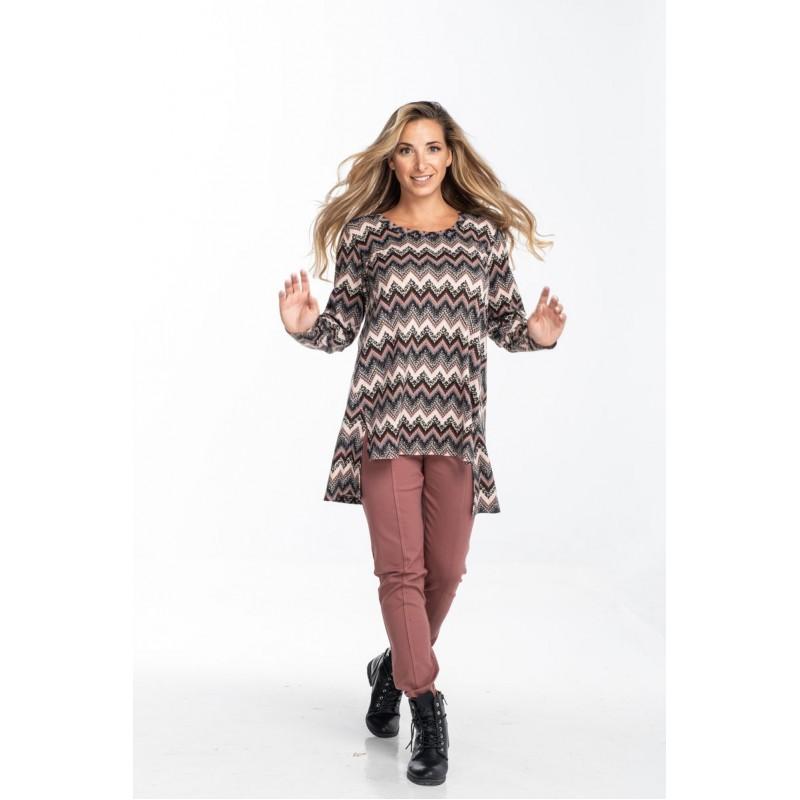 Μοντερνα plus size ρουχα - Μπλούζα Εμπιρμέ με Ανοίγματα Εμπρός Μπλούζες xxl