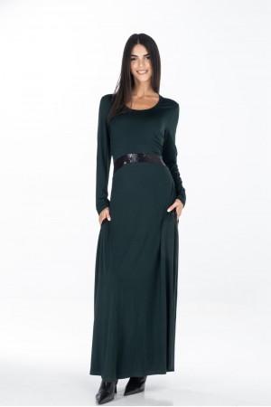 Φόρεμα Μακρύ με Φάσες Παγιέτα