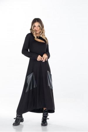Φόρεμα Ριπ με Σαμπρέλα και Τσέπες