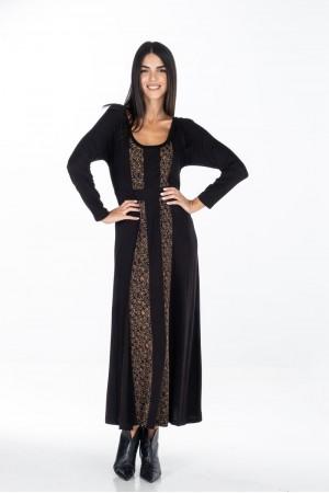 Φόρεμα Μακρύ με Άνιμαλ Φάσες