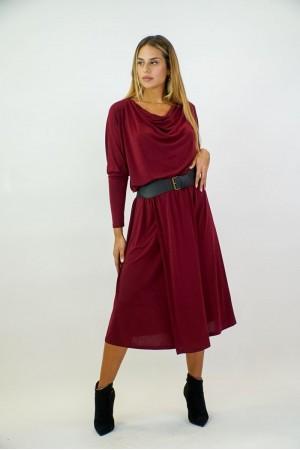 Φόρεμα Μίντι Ντραπέ