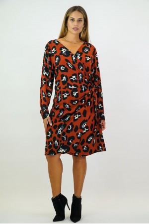 Φόρεμα Μιντι Κρουαζέ Buble Κρέπ