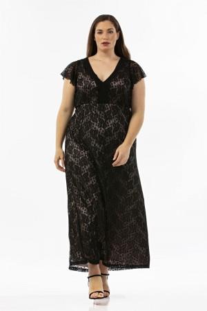 Φόρεμα Μάξι Ελαστική Δαντέλα