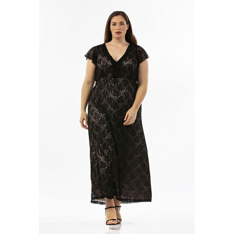 Οικονομικα Βραδινα Φορεματα - Φορεματα xxl - Φορεματα Φορεματα - Φόρεμα Μάξι Ελαστική Δαντέλα Φορέματα xxl