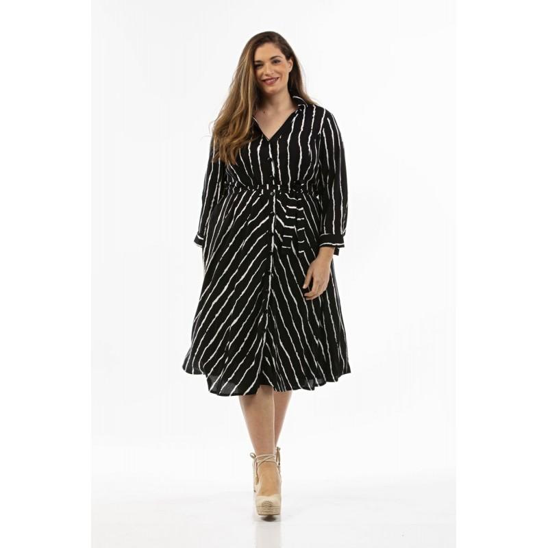 Οικονομικα Βραδινα Φορεματα - Φορεματα xxl - Φορεματα Φορεματα - Φόρεμα Σεμιζιέ σε Βουάλ Βαμβακερό Φορέματα xxl