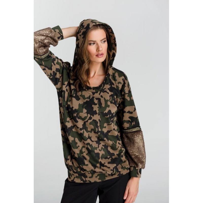 Μπλούζα Παραλλαγής με Γούνα  Μπλούζες xxl