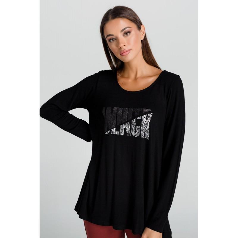 Μπλούζα Πλεκτή με Δαντέλα Φάσα  Μπλούζες xxl