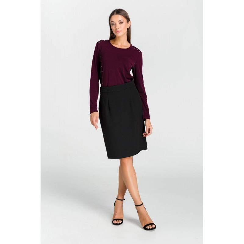 Μοντερνα plus size ρουχα - Μπλουζες xxl - Μπλουζες - Fuego Fashion - Μπλούζα Λούρεξ με Φάσες