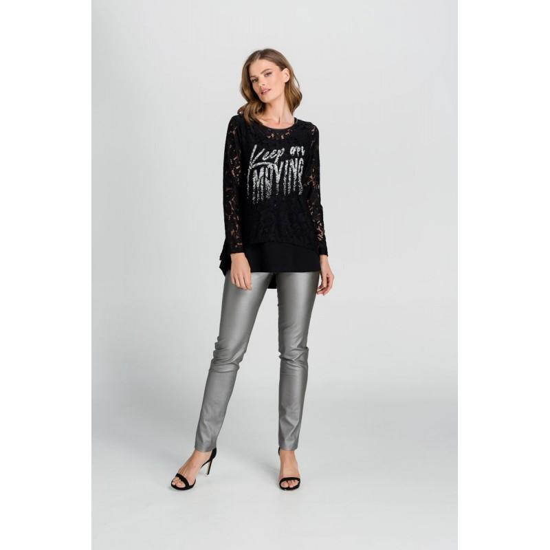 Μπλουζες xxl - Μπλουζες - Fuego Fashion - Μπλούζα Διπλή Δαντέλα  Μπλούζες xxl