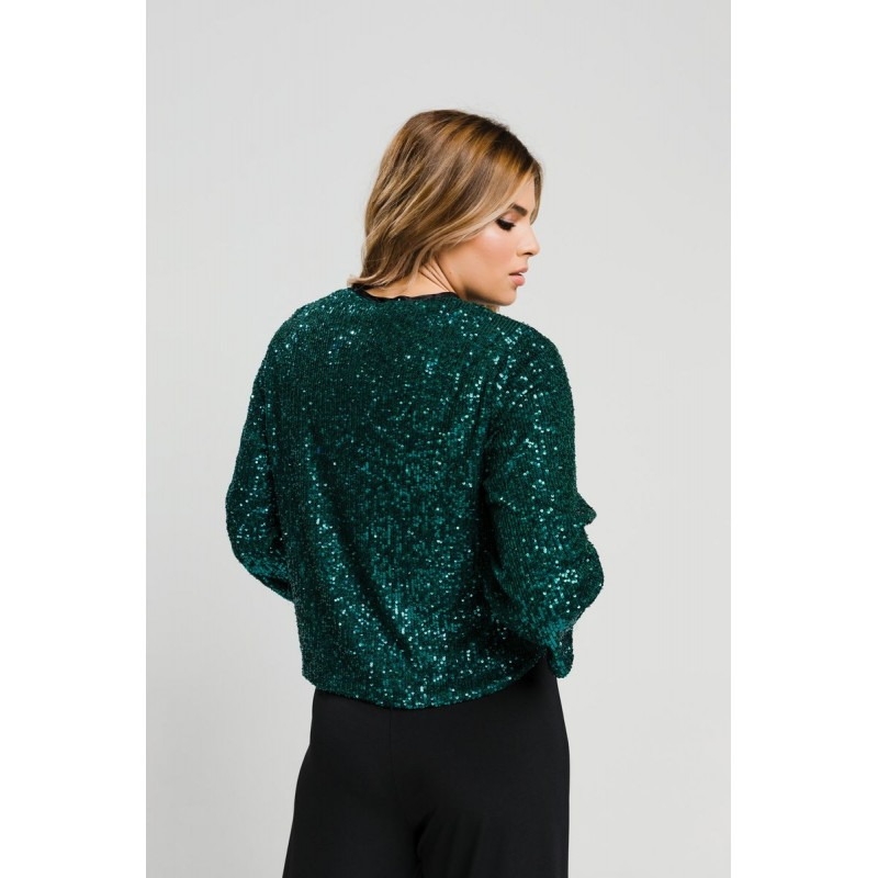 Μοντερνα plus size ρουχα - Fuego Fashion - Μπολερό Παγιέτα Ζακέτες xxl