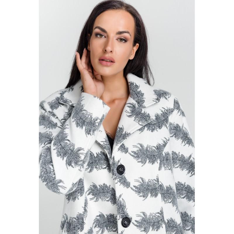 παλτο με φτερα και κεντημα