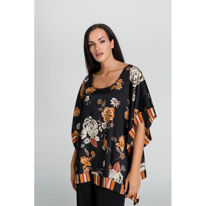 Fuego Fashion - Πουκαμίσα Λουλούδι Ρίγα  Πουκαμίσα - Πουκάμισα xxl