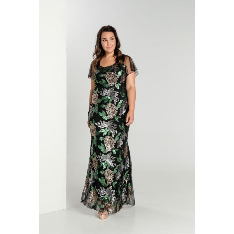 Οικονομικα Βραδινα Φορεματα - Φορεματα xxl - Φορεματα Φορεματα - Fuego Fashion - Φόρεμα με Παγιέτες Μεγάλα Μεγέθη