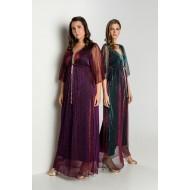 Φόρεμα με Δίχτυ Λούρεξ Μελανζέ