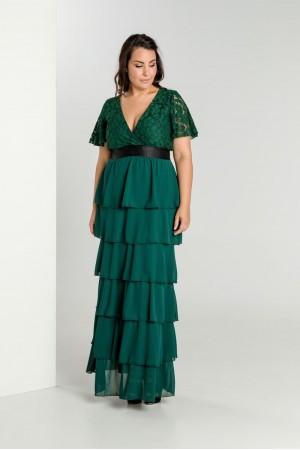 Φόρεμα Μουσελίνα με Δαντέλα