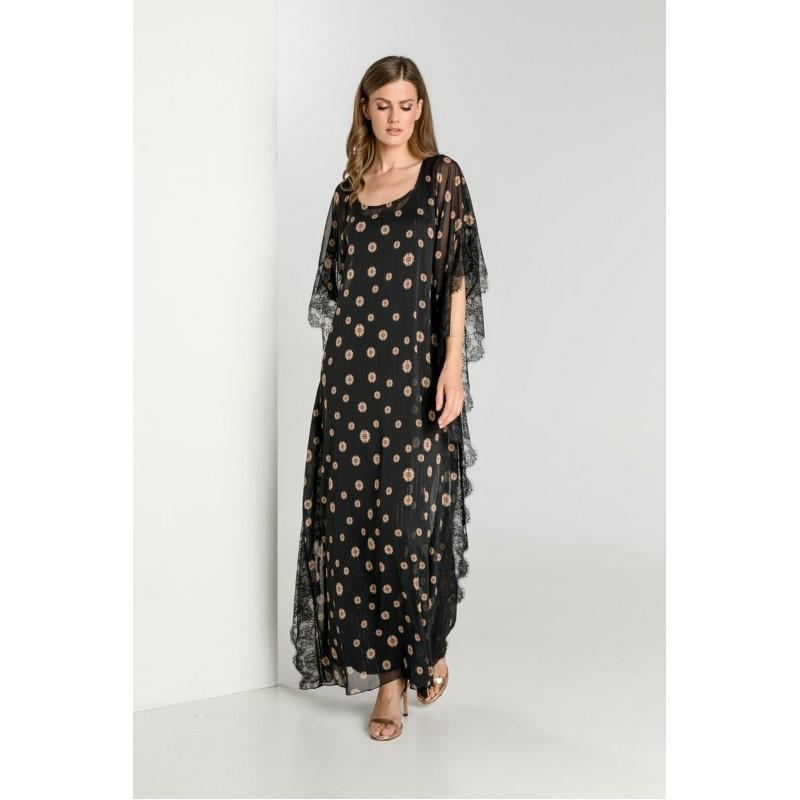 Οικονομικα Βραδινα Φορεματα - Φορεματα xxl - Φορεματα Φορεματα - Fuego Fashion - Φόρεμα Εμπριμέ Καφτάνι Μεγάλα Μεγέθη