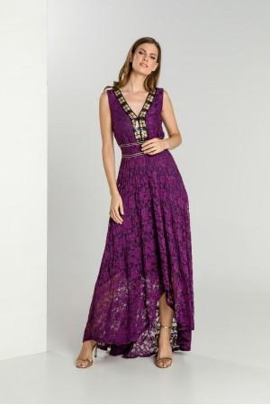 Φόρεμα Δαντέλα με Τρέσα