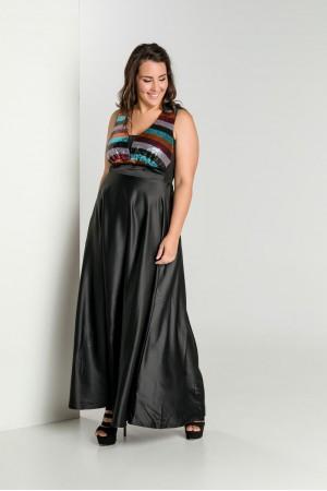 Φόρεμα με Πολύχρωμο Μπούστο