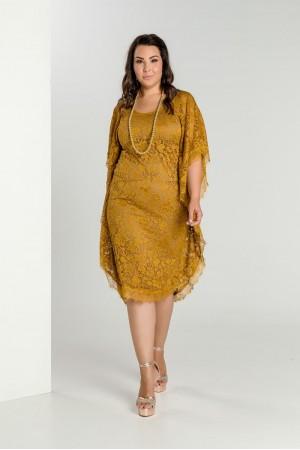Φόρεμα με Τούλι Εμπριμέ