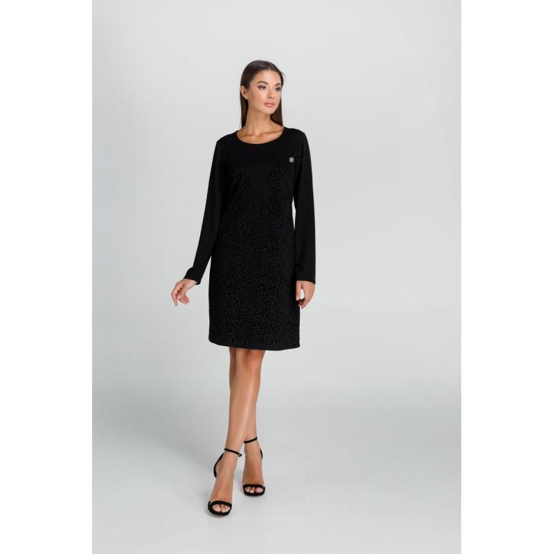Οικονομικα Βραδινα Φορεματα - Φορεματα xxl - Φορεματα Φορεματα - Fuego Fashion - Φόρεμα με Φλόκο Μεγάλα Μεγέθη