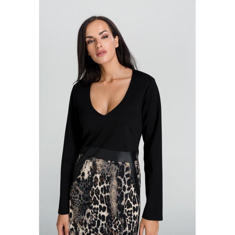 Φορεματα xxl - Φορεματα Φορεματα - Fuego Fashion - Φόρεμα Άνιμαλ Σαμπρέλα Μεγάλα Μεγέθη